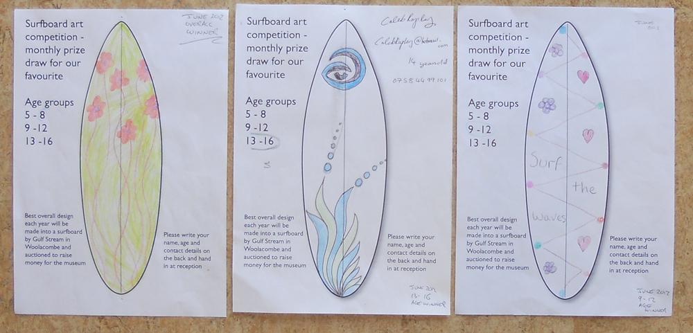 June winners – children's surfboard art competition