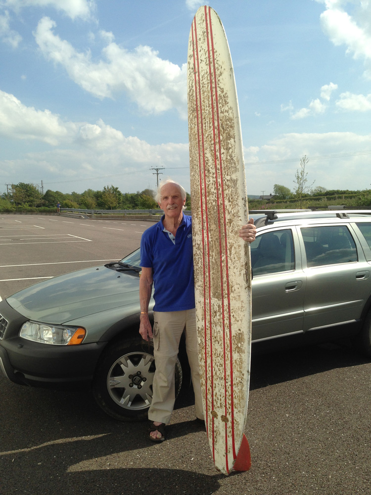 Visitor donates rare 1960s Bill Bailey surfboard