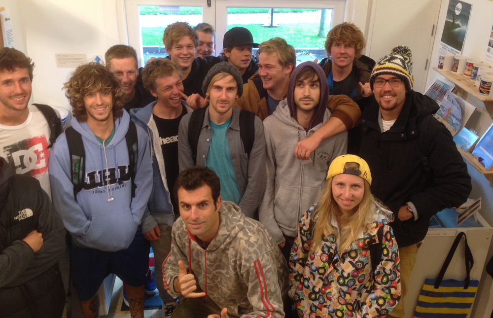 Surf science students visit museum