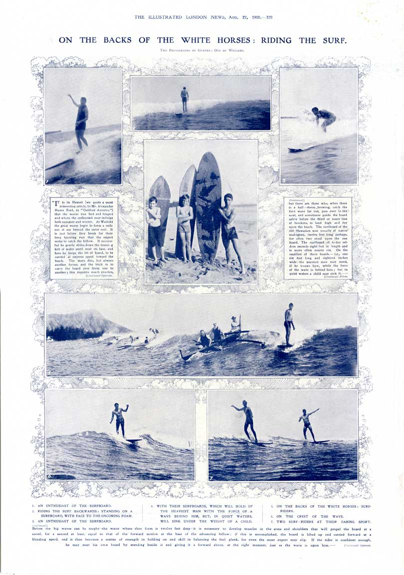 Illustrated London News features Surfing