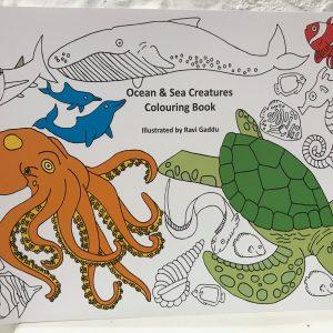 ocean and sea creatures colouring book