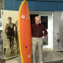 Sixties surfer donates his first surfboard