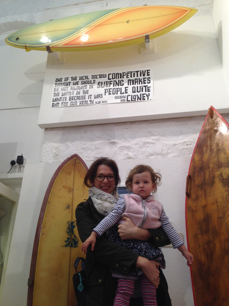 Legendary shaper's family visit surfing pioneers exhibition