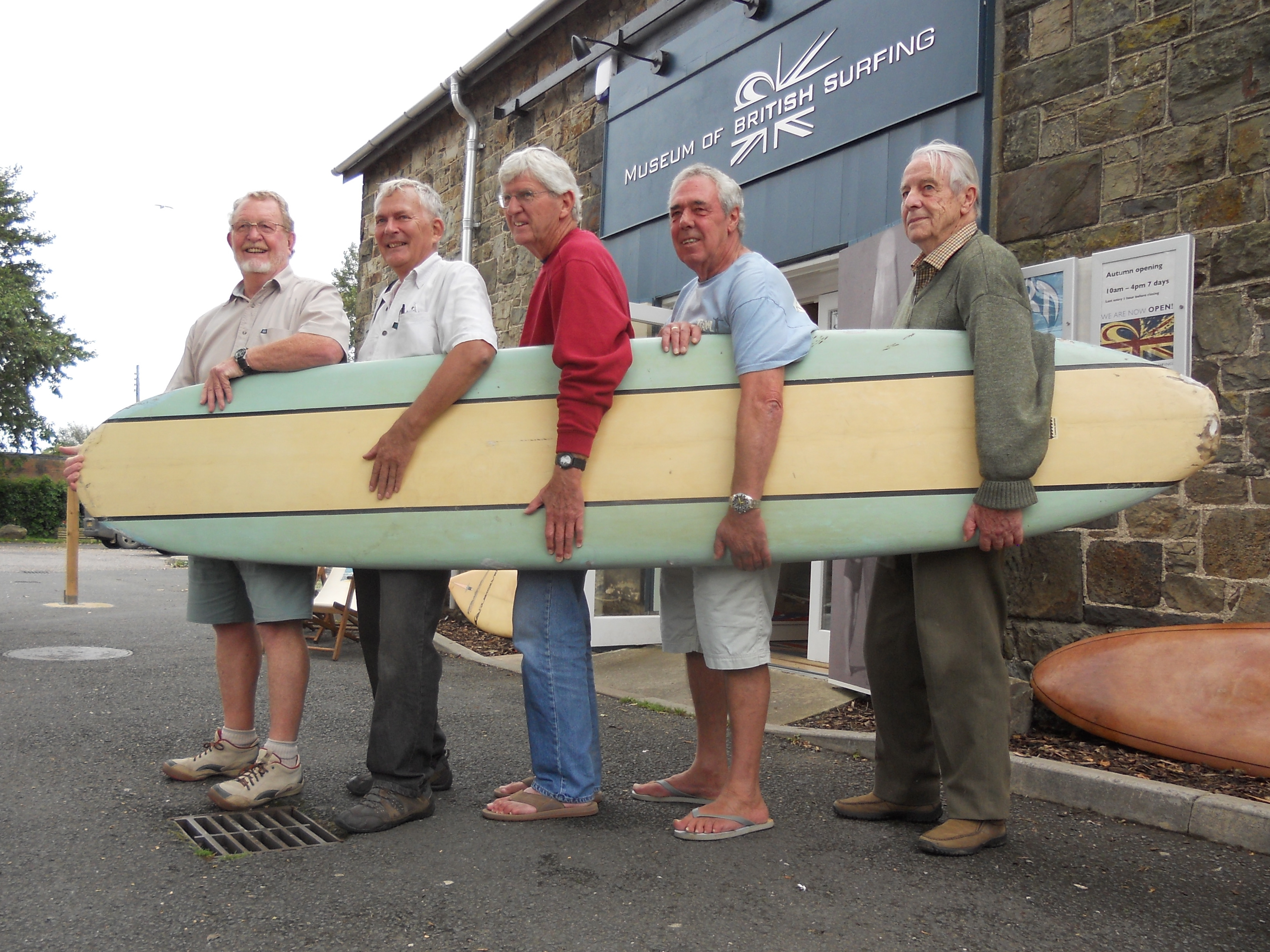 Surfing legends, classic surfboards at Museum of British Surfing