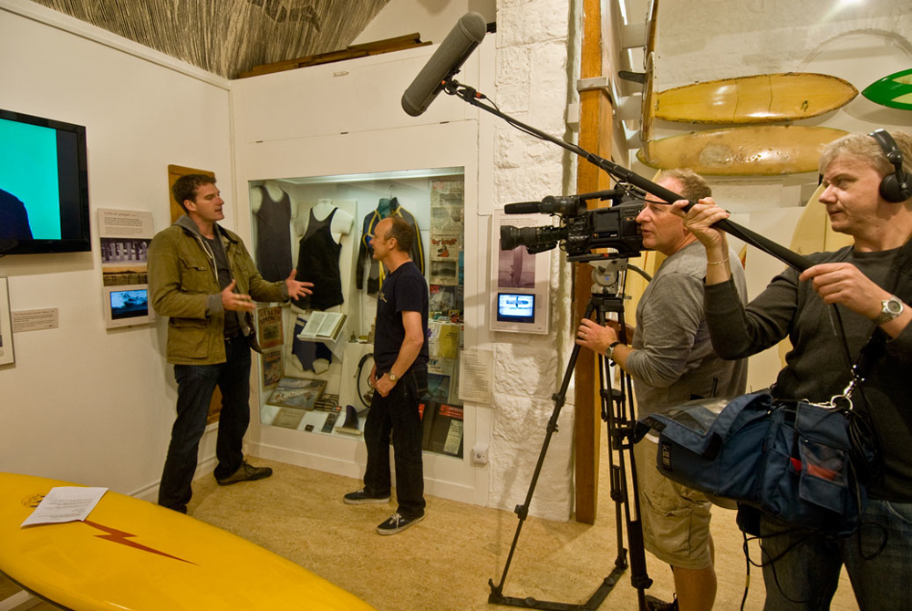 BBC's One Show film at the surfing museum