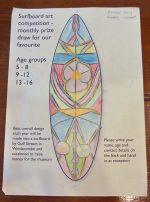 Children's surfboard art competition winner announced