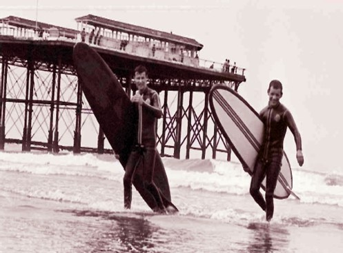 John Smith and Ian Davies surf Saltburn