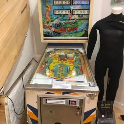 1976 Surf-Champ Pinball Machine now at the Museum of British Surfing