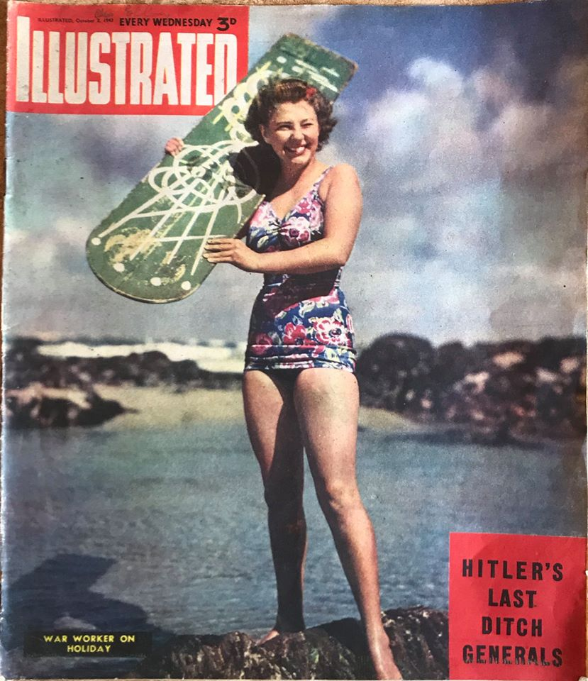 Magazine from 1943 shows Bellyboarding during the Second World War