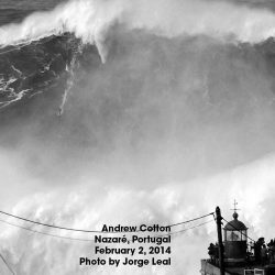 Devon surfer Andrew Cotton rides into record books