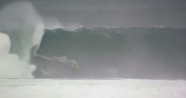 Surfers ride historic storm waves