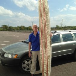 Donor delighted with conservation of his rare surfboard