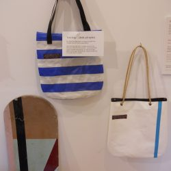 Recycled deckchair tote bags now on sale