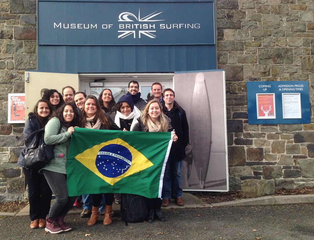 Students from Brazil visit surfing museum