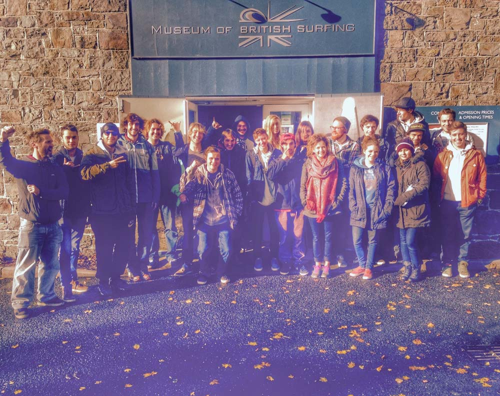Surf science students visit Museum of British Surfing