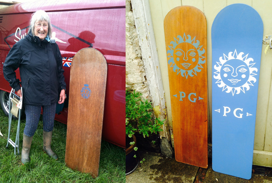 Veteran surfer donates her original surfboards