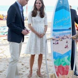 Prince George gets his first surfboard!