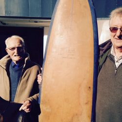 Surfer reunited with surfboard & shaper after 45 years!