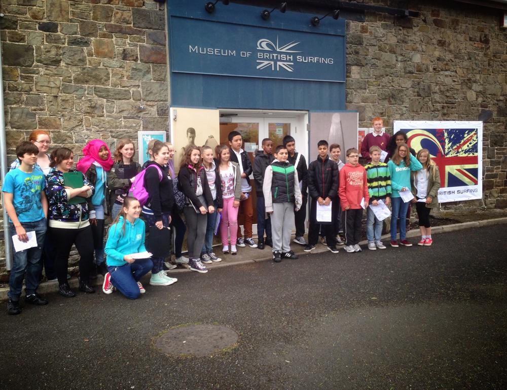 London & Braunton schools combine for museum visit