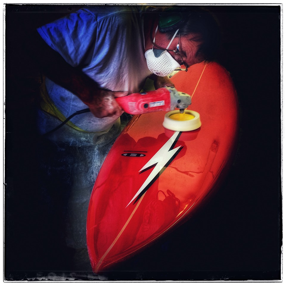 Custom-Shaped Lighting Bolt Surfboard on Sale this Saturday!