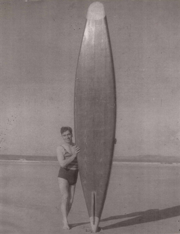 Cornwall Ice Cream Seller Surfs Newquay in 1929