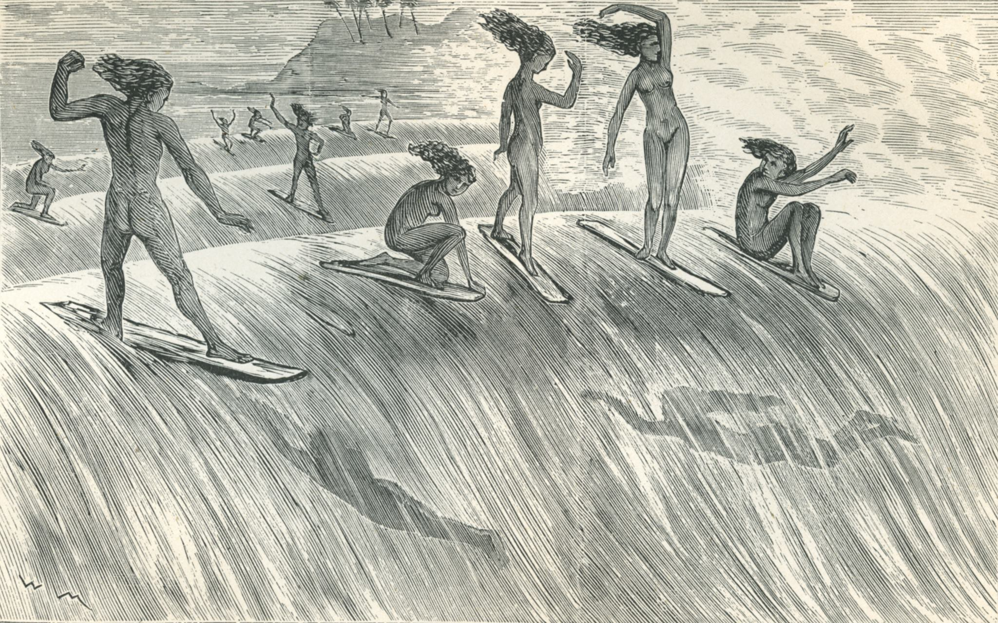 Surfing 250 Years Ago!